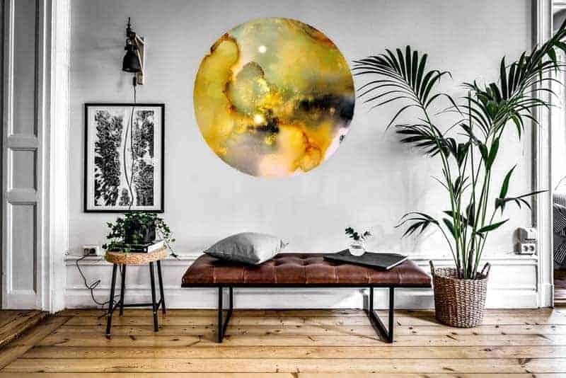ronde schilderij kunst muurdecoratie
