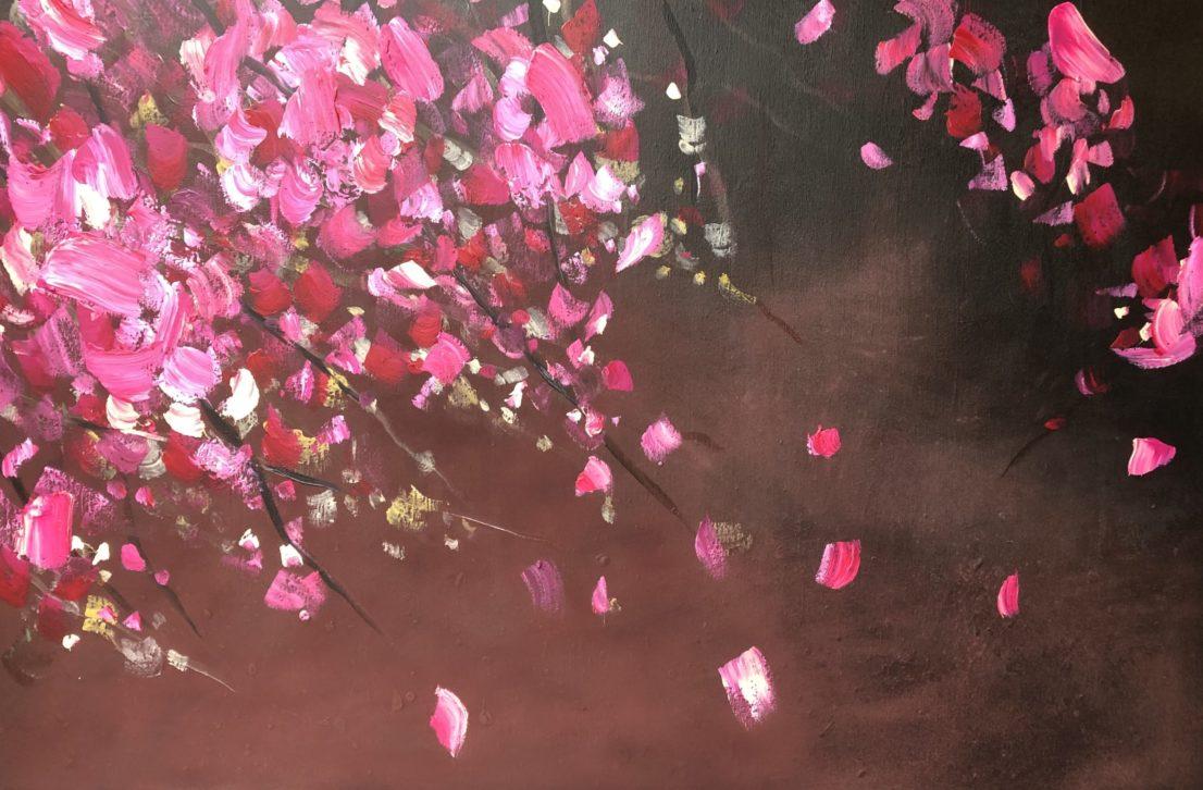 Kunst Schilderij Acryl StephArts Stephanie van der Beek Bloesem Blossom Lente