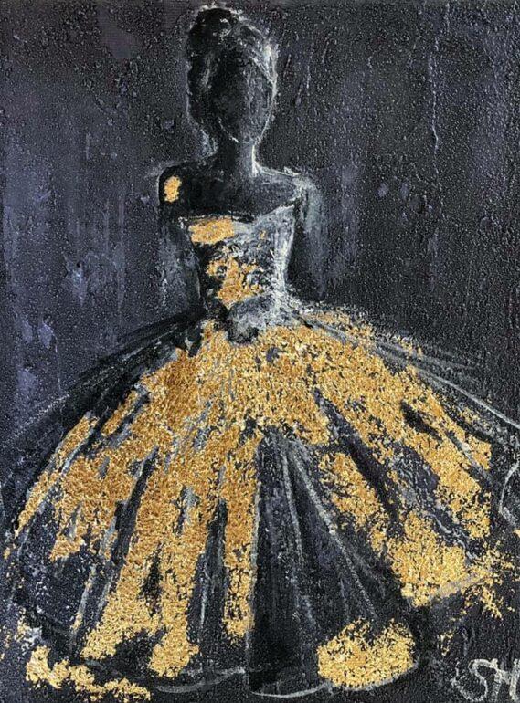 Kunst Art Schilderij Bladgoud Abstract Figuratief StephArts Stephanie van der Beek