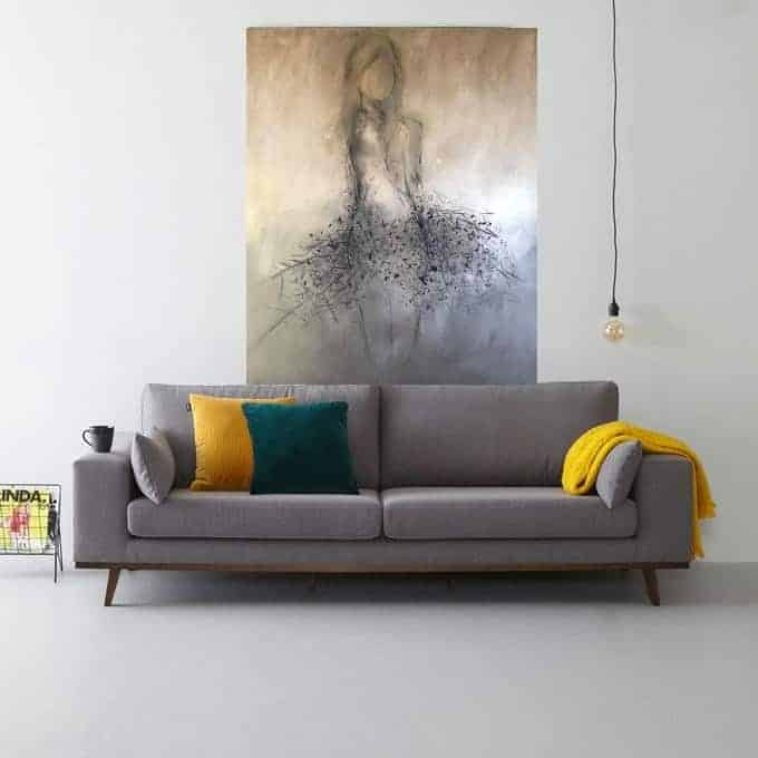 Abstract abstrakt woonkamer Kunst Schilderij Acryl StephArts Stephanie van der Beek Figuratief dames vrouwelijk