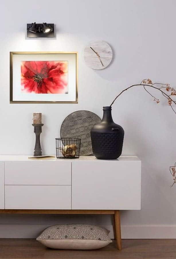 schilderij rood bloem natuur