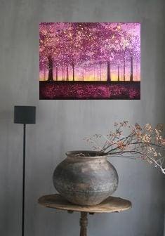 schilderij op Canvas Bossen Bomen